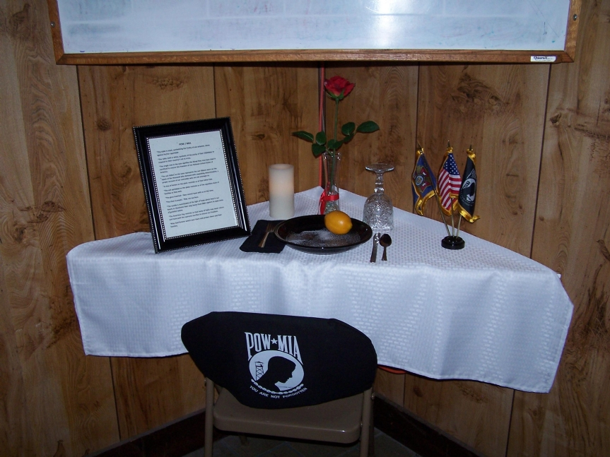 POW/MIA Table at Post 9914